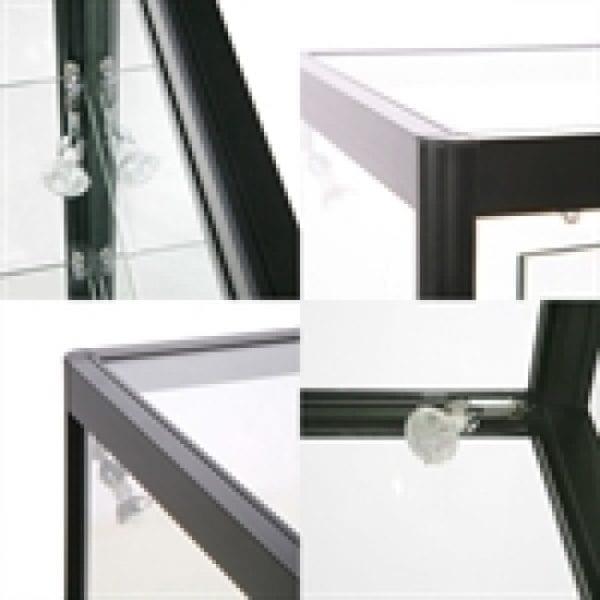 Showcase Counter, Solo - glasvitrine sort LED lys