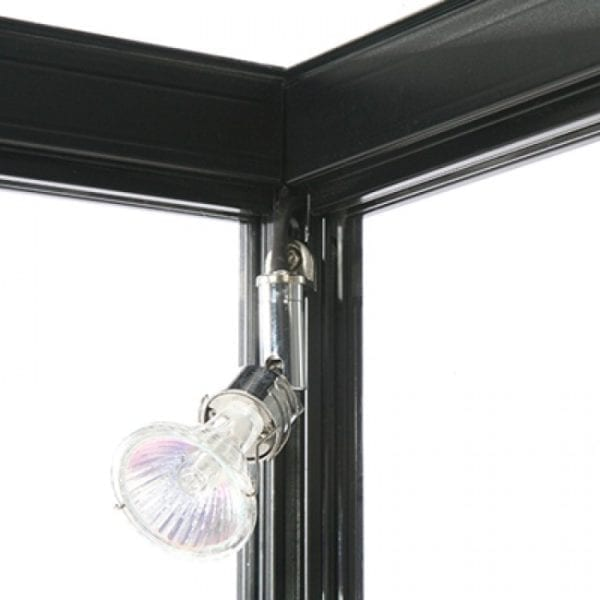 Showcase Counter, Solo - glasvitrine skab sort LED lys