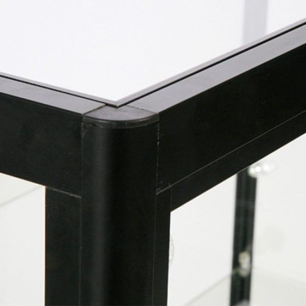 Showcase Counter Duo sort - glasvitrine skab sort LED lys