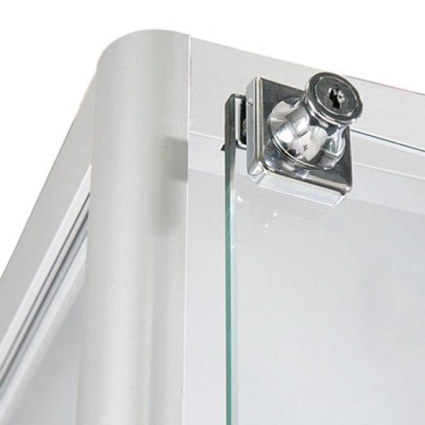 Showcase Tower Solo sølv - glasvitrine LED lys