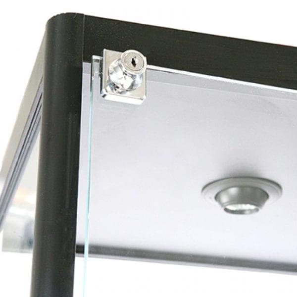 Showcase Tower, Solo - glasvitrine sort LED lys