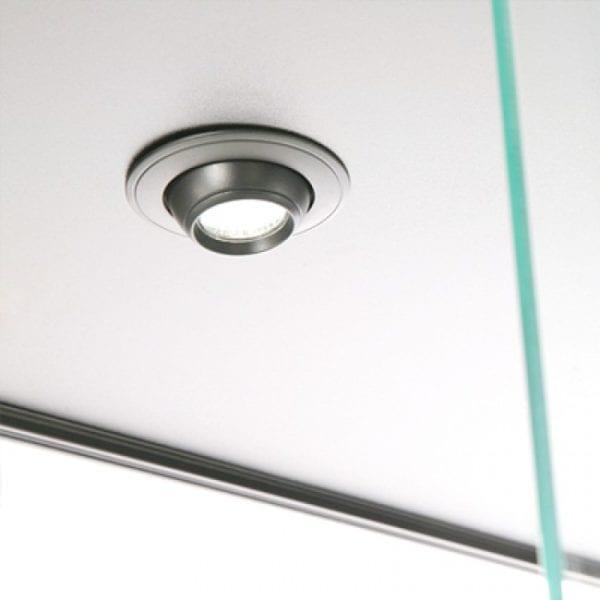 Showcase Tower, Duo - glasvitrine sølv LED lys