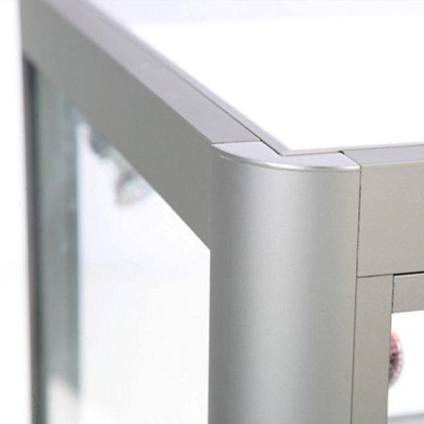 Glasvitrine Disk Duo Sølv LED lys