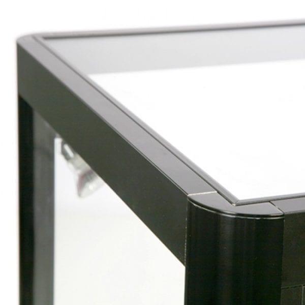 Glasvitrine Disk Duo Sort LED lys showcase butik disk