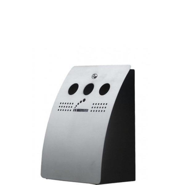 Bin - udendørs askebæger -børstet stål