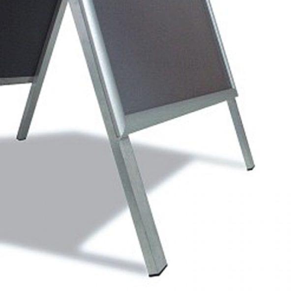A-skilt Alu Line Budget 50x70cm-sølv