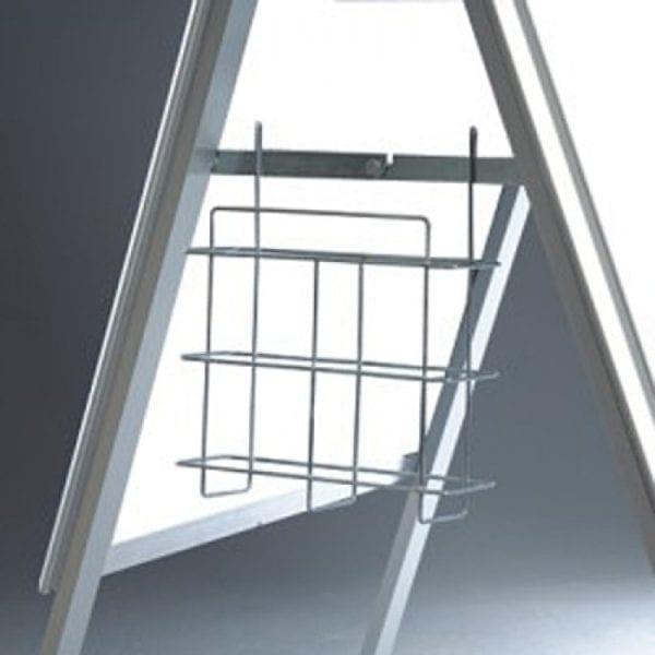 A-skilt Alu Line Budget 70x100cm-sølv