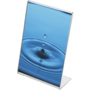 Akryl L-menukortholder - højformat - A3