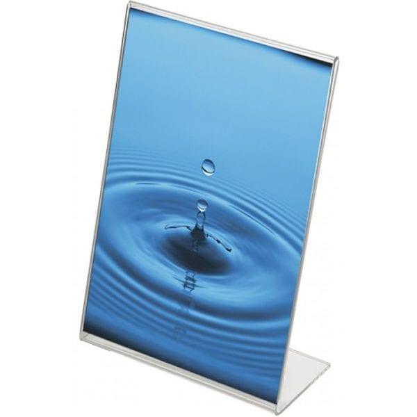 L-menukortholder i akryl - højformat - A6