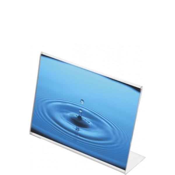 Akryl L-menukortholder - bredformat - A5