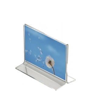 Akryl T-skilteholder - bredformat - A6