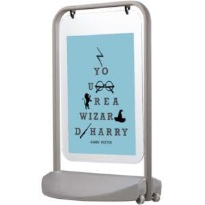 Gadeskilt Swing-Sign Poster 50x70cm grå