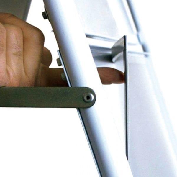 Fortovsskilt 60x85cm med cykelparkering hvid
