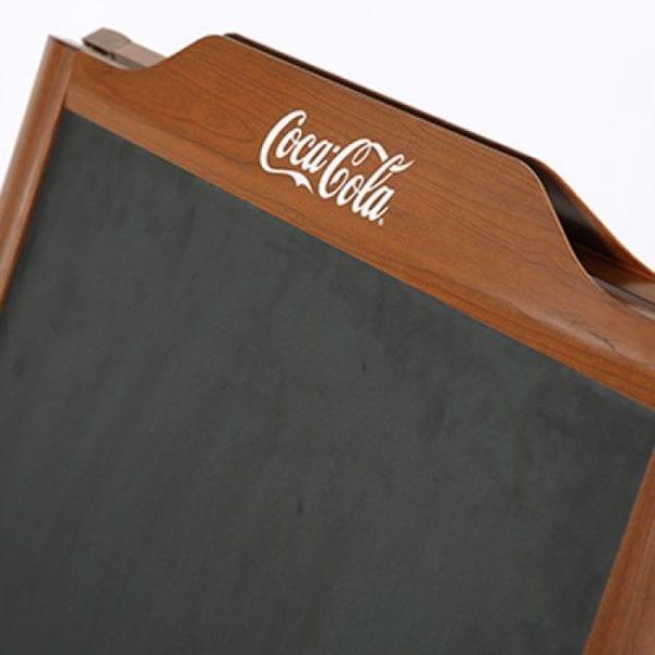 Cafetavle alu/træ look 60x80cm