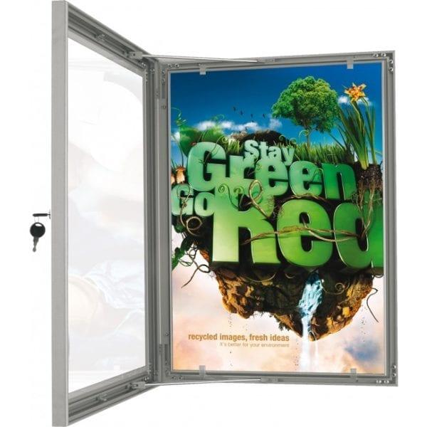 Posterboks, Plakatskab udendørs med lås A4 21x30cm