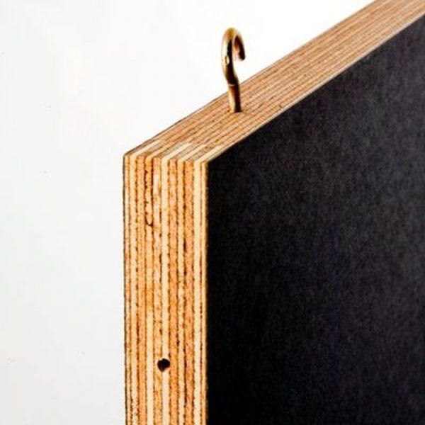 dobbeltsidet skrivetavle, cafetavle sort 40x60cm