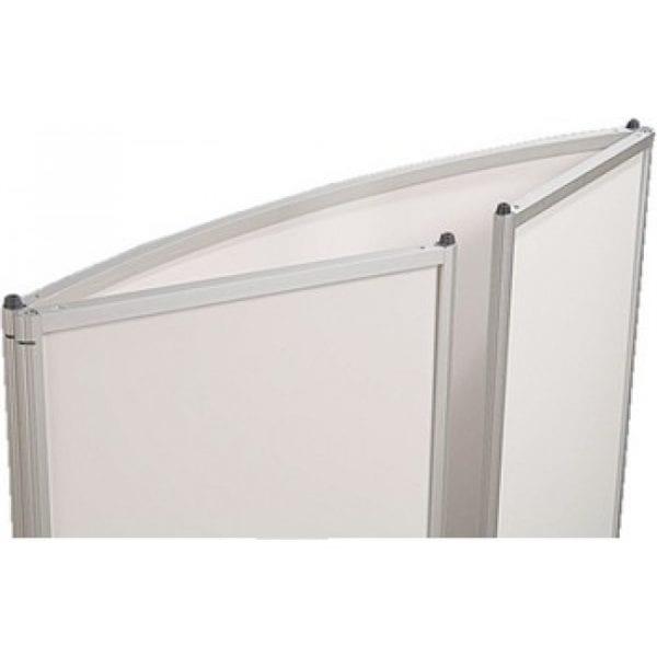Messebord buet med hvid topplade
