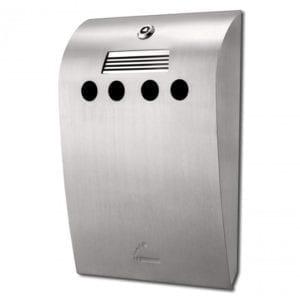 BIN Convex  - udendørs askebæger - børstet stål