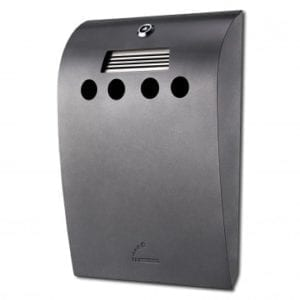 BIN Convex  - udendørs askebæger -grå
