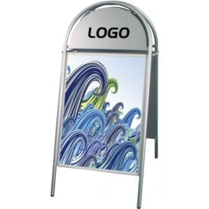 Gadeskilt Expo Gotik 50x70 cm- sølv
