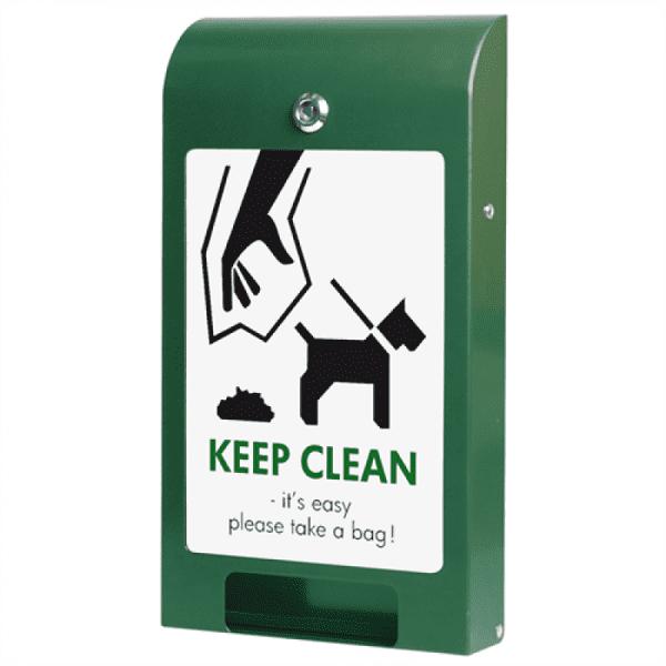 Hundepose dispenser grøn med A4 info