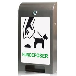 Hundepose dispenser grå med A4 info