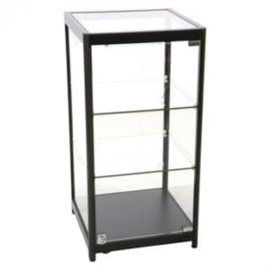 Showcase Counter, Solo - glasvitrine sort LED lys