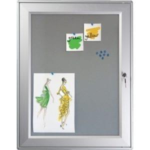 Opslagsskab skilteskab udendørs filt lås 12xA4