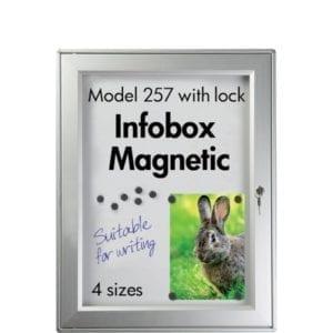 Nyhedsskab Magnetic med lås 4xA4 udendørs