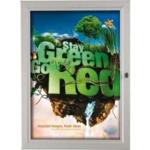 Posterbox, plakatskab udendørs med lås A2 42x60cm