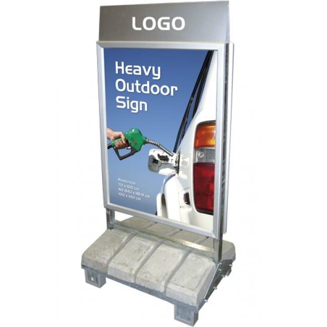 Gadeskilt Heavy Outdoor A0 85x120cm med logoplade