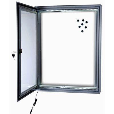 Nyhedsskab Magnetic 4xA4 med lås - LED LYS