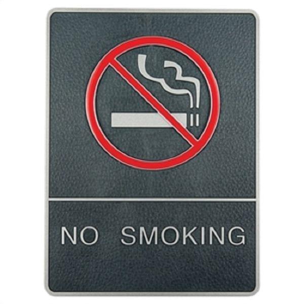 Dørskilt NO SMOKING med blindeskrift