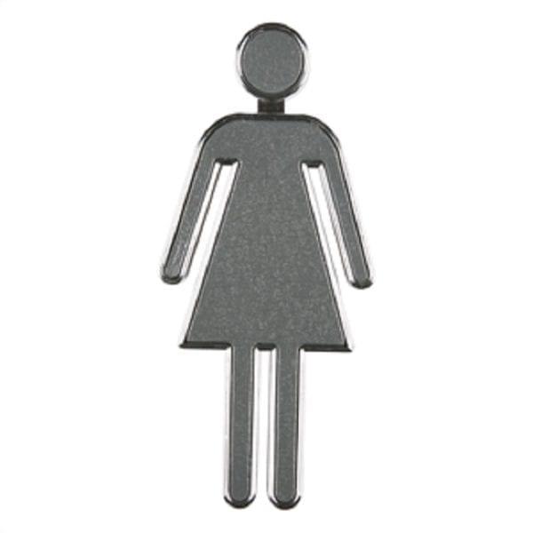 Dørskilt toilet krom - Dame