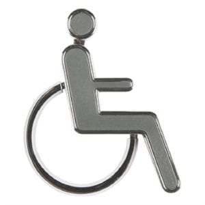 Dørskilt toilet krom - Handicap