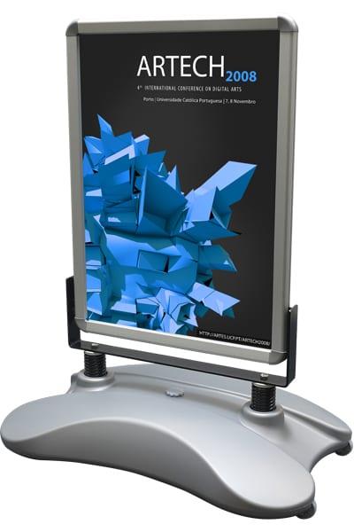 Wind-Sign Basic 50x70cm sølv