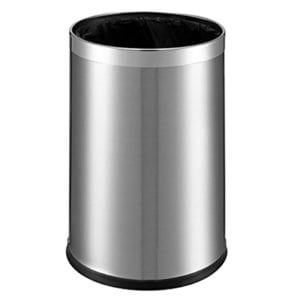Papirkurv - børstet stål