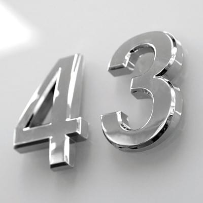 Nummersæt 0 - 9 - sølv