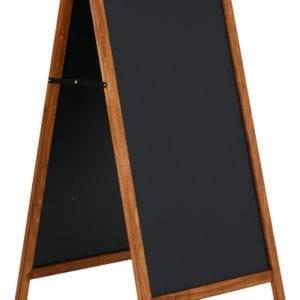 Cafetavle A skilt 60x120 cm ståltavle