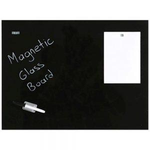 Glastavle magnetisk 40x60 cm Sort