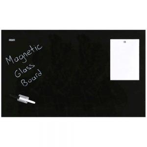 Glastavle magnetisk 60x120 cm Sort