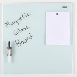 Glastavle magnetisk 40x60 cm hvid
