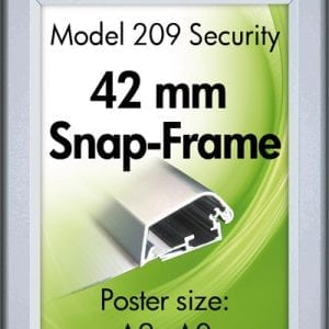 Snapramme Security 42mm A0 ALU