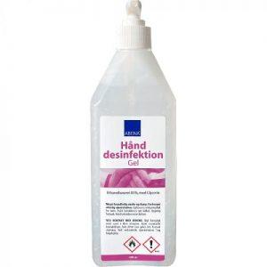 Håndsprit m.pumpe 600ml flaske 85% Etanol