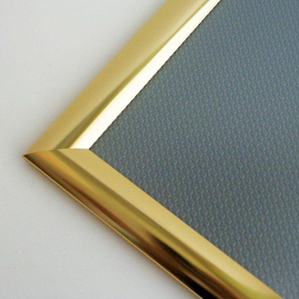 Alu Snapramme A1 Blank Guldeloxeret 25mm