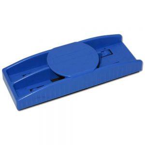 Whiteboard tavlesvamp med penneholder blå
