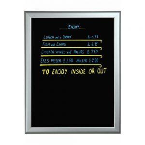 Blackboard med ALU ramme 60x80cm