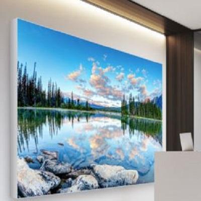 Bannerramme med LED 100x200 cm ALU væg